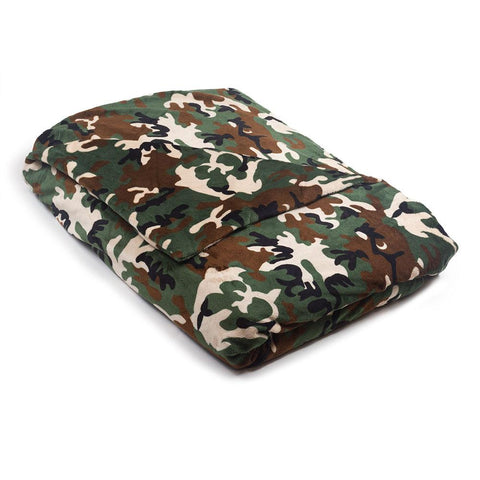 Camo Weighted Blanket in Soft Fabric, Minky