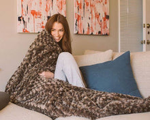 Load image into Gallery viewer, Charcoal Grey Chenille Magic Weighted Blanket