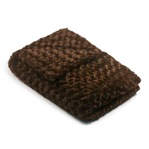 Chocolate Chenille Magic Weighted Blanket (click box below for more sizes)