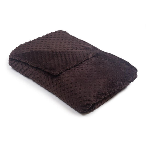 Chocolate Minky Dot Magic Weighted Blanket