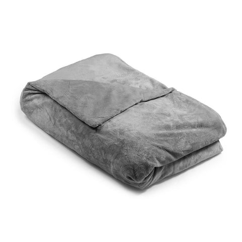 Gray Minky Magic Weighted Blanket