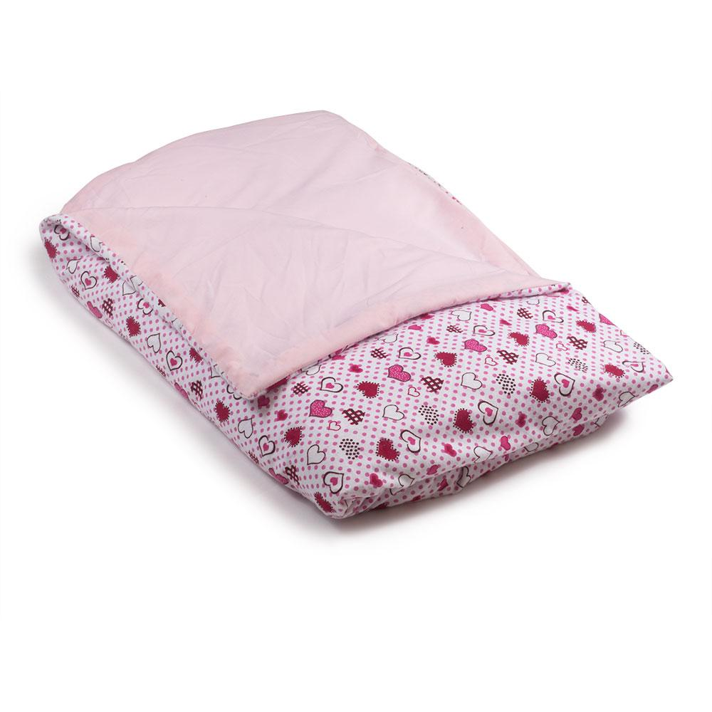 Hearts Flannel / Pink Cotton Magic Weighted Blanket - Magic Weighted Blanket