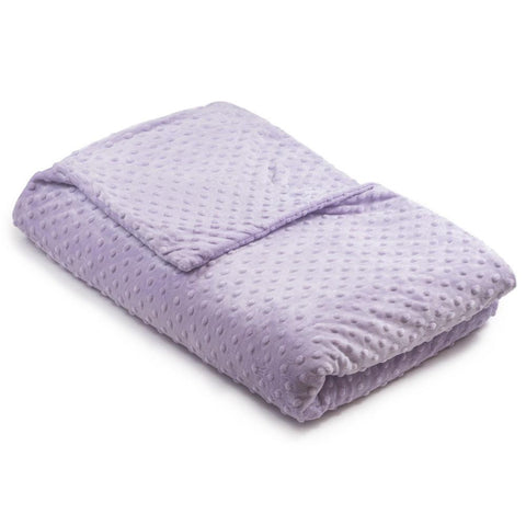 Lavender Minky Dot Magic Weighted Blanket