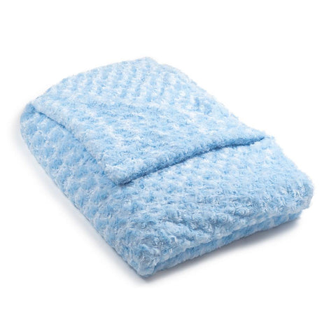 Light Blue Chenille Magic Weighted Blanket (click box below for more sizes)