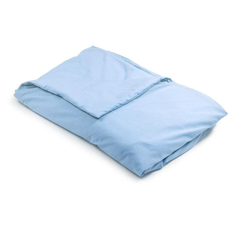 Baby Blue Cooling Cotton Weighted Blanket Made in USA