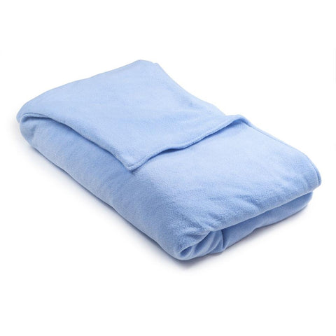 Light Blue Fleece Magic Weighted Blanket