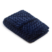 Load image into Gallery viewer, Navy Blue Chenille Magic Weighted Blanket - Magic Weighted Blanket
