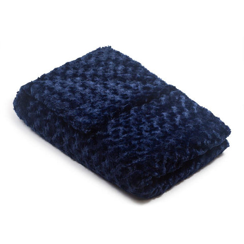 Navy Blue Chenille Magic Weighted Blanket (click box below for more sizes)