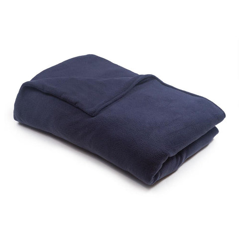 Navy Blue Fleece Magic Weighted Blanket