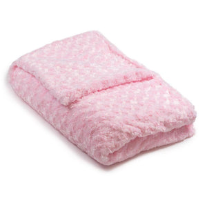 Pink Chenille Weighted Blanket for Depression - Magic Weighted B