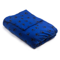 Puppy Prints Fleece Magic Weighted Blanket - Magic Weighted Blanket