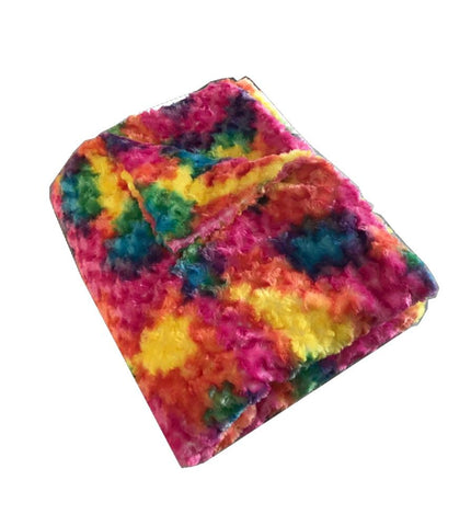 Rainbow Chenille Magic Weighted Blanket (click box below for more sizes)