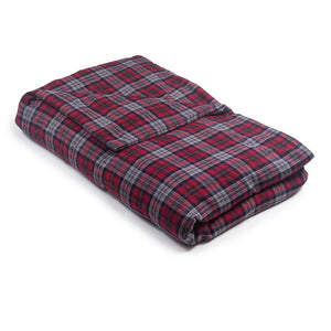 Red & Gray Plaid Flannel - Magic Weighted Blanket