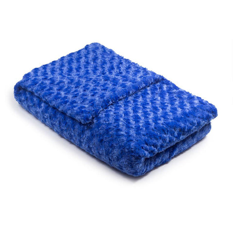 Royal Blue Chenille Magic Weighted Blanket (click box below for more sizes)