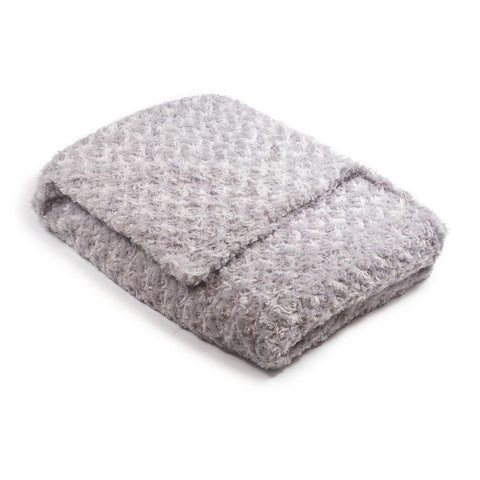Silver Grey Chenille Magic Weighted Blanket