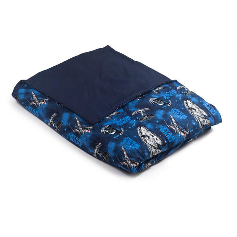 Star Wars Cotton / Navy Blue Cotton Magic Weighted Blanket