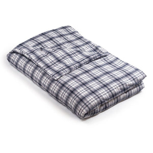 White & Gray Plaid Flannel Magic Weighted Blanket