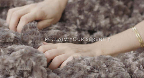 the Original Weighted Blanket in luxurious soft chenille