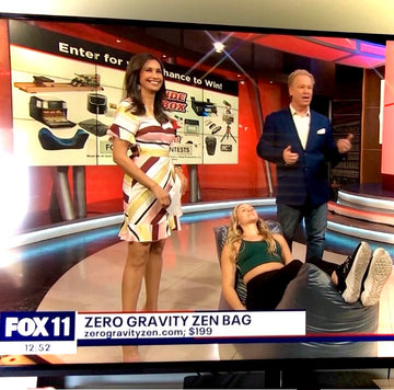 zero gravity bean bag chair on Fox 11 News with Dr. Gadget