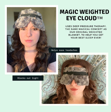 Magic Weighted Sleep Mask for Deep Pressure Stimulation targeted to the eyes and head