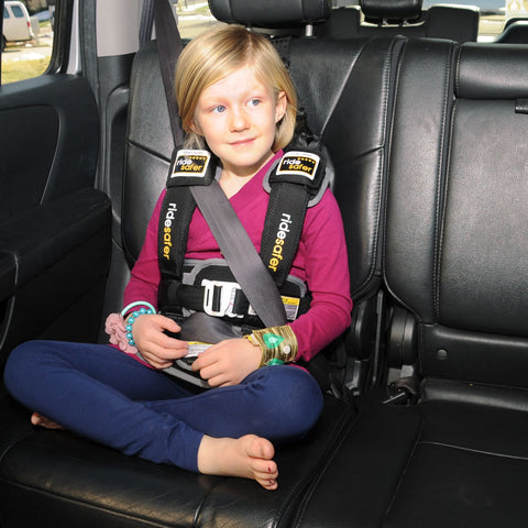 5 year old in ridesafer vest