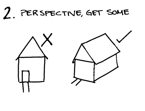Use perspective in your photos rather than shooting straight on.