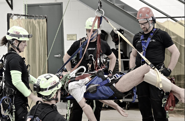 Medical training for industrial workers, tower climbers, linemen, and arborists.