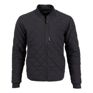 Truewerk EDO Quilted WerkJacket - Black Front Zip Jacket - Casual Workwear Outerwear