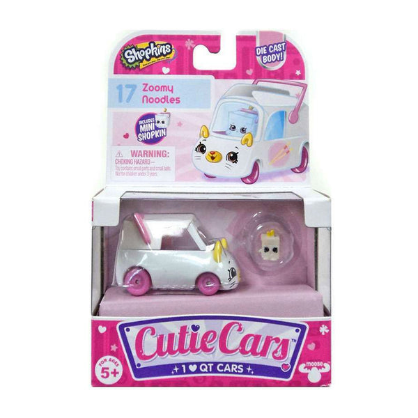 SHOPKINS CUTIE CARS BLANCO CON ROSA 80278