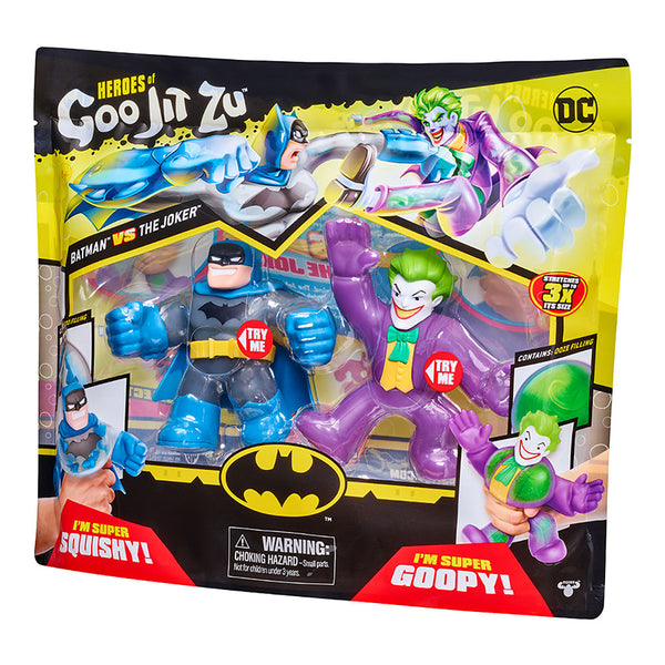 GOO JIT ZU 2 PACK FIGURAS ELASTICAS DC COMICS BATMAN VS JOKER 86576