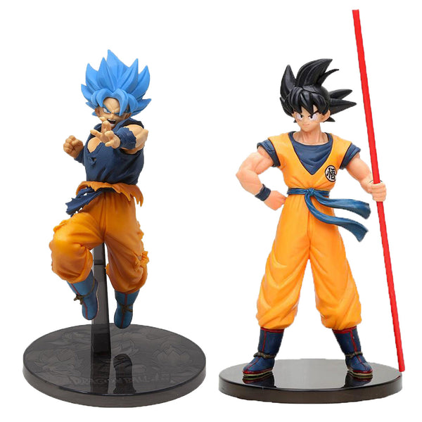 BANPRESTO DRAGON BALL MOVIE - GOKU & SON GOKU BLUE
