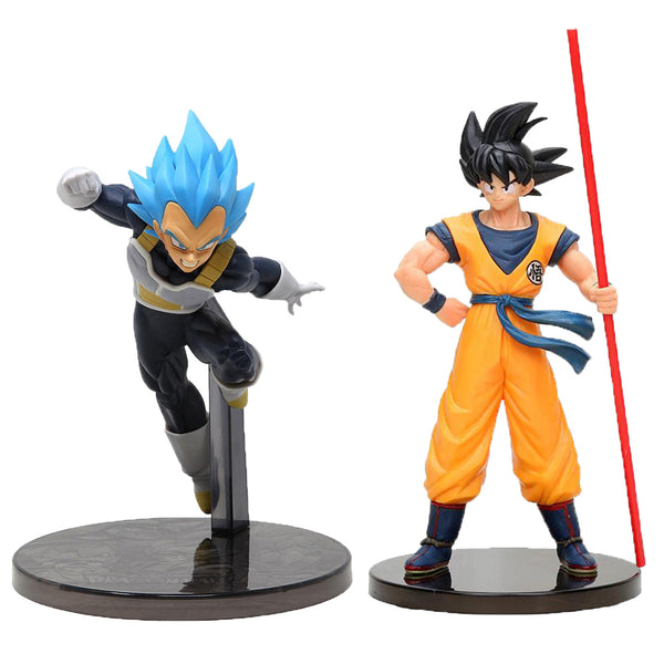 BANPRESTO DRAGON BALL MOVIE - GOKU & VEGETA SUPER SAIYAJIN BLUE