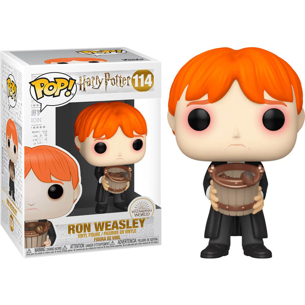 Funko Pop! Harry Potter: Harry Potter - Ron Vomita babosas en cubo