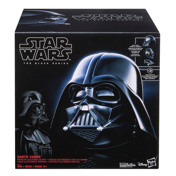 Star Wars The Black Series - Casco electrónico premium de Darth Vader