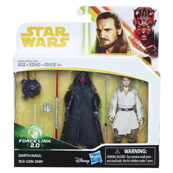 STAR WARS FORCE LINK 2.0 - FIGURAS DE DARTH VADER Y QUI-GON JINN