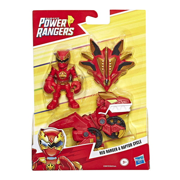 PLAYSKOOL HEROES POWER RANGERS - RED RANGER & RAPTOR CYCLE
