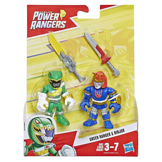PLAYSKOOL HEROES POWER RANGERS - GREEN RANGER & NINJOR