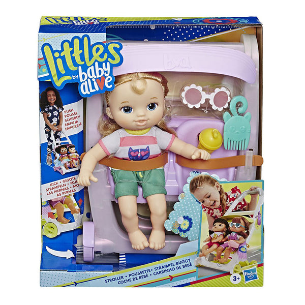 BABY ALIVE LITTLES STROLLER + DOLL  CARREOLA E7182