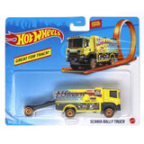 HOT WHEELS TRANSPORTADOR DE AUTOS - SCANIA RALLY TRUCK BFM60