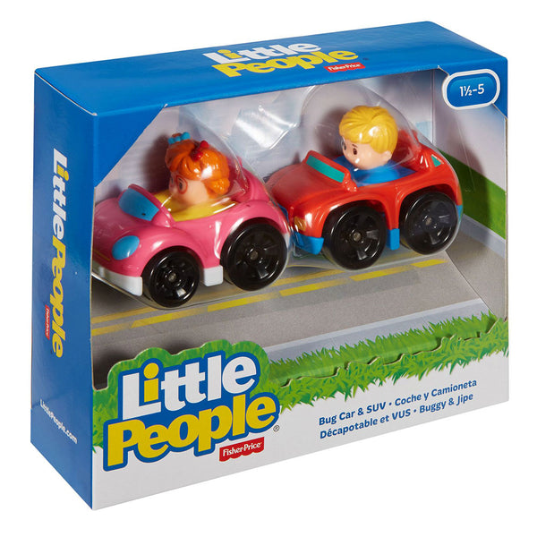 FISHER PRICE LITTLE PEOPLE WHEELIES 2PACK - COCHE Y CAMIONETA