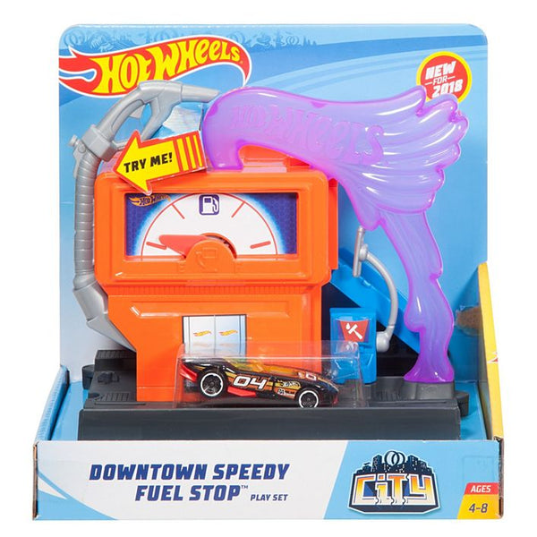 HOT WHEELS CITY - CARRERAS EN LA GASOLINERA