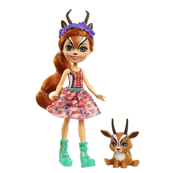 ENCHANTIMALS CON MASCOTA - GABRIELA GAZELLE FNH22