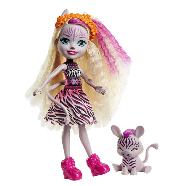 ENCHANTIMALS CON MASCOTA - ZADIE ZEBRA FNH22