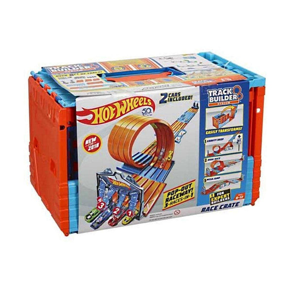HOT WHEELS TRACK BUILDER MEGA CAJA 3 EN 1