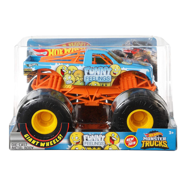 HOT WHEELS MONSTER TRUCKS ESCALA 1:24 - FUNNY FEELINGS FYJ83