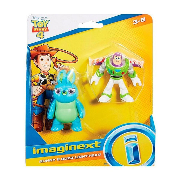 FISHER PRICE IMAGINEXT TOY STORY 4 FIGURAS - BUNNY Y BUZZ LIGHTYEAR