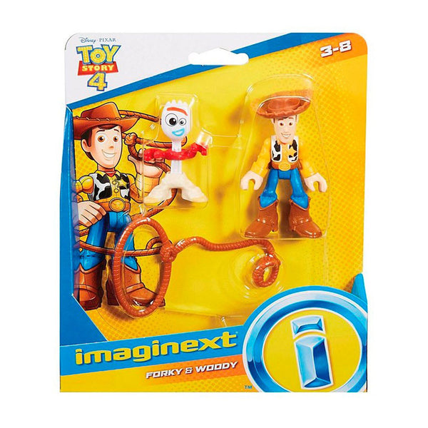 FISHER PRICE IMAGINEXT TOY STORY 4 FIGURAS - WOODY Y FORKY