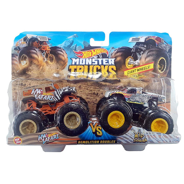 MONSTER TRUCKS ESCALA 1:64 - HW SAFARI VS WILD STREAK FYJ64
