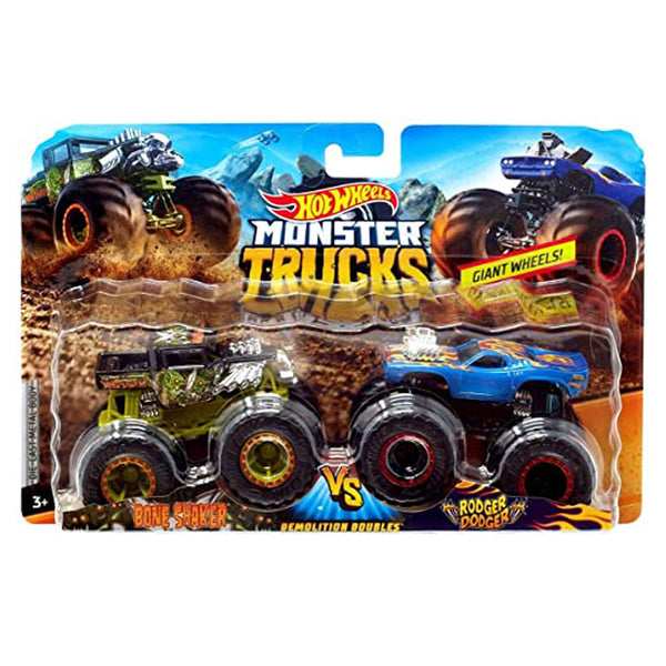 MONSTER TRUCKS ESCALA 1:64 - BONE SHAKER VS RODGER DODGER FYJ64