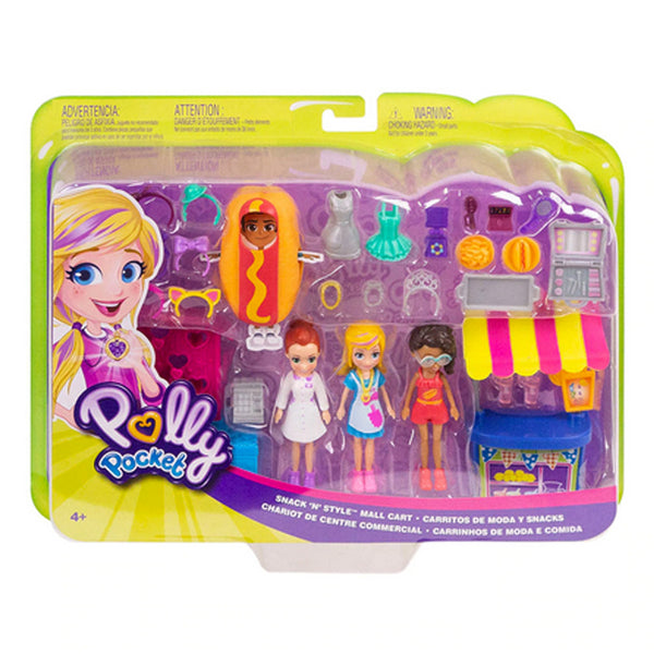 POLLY POCKET CARRITOS DE MODA Y SNACKS